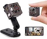 Mini Kamera,Full HD 1080P Tragbare Kleine Überwachungskamera, Mikro Nanny Cam mit Bewegungserkennung und Infrarot Nachtsicht, Compact Sicherheit Kamera für Innen und Aussen