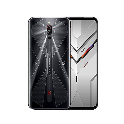 nubia RedMagic 5S Gaming Phone 8GB RAM + 128GB ROM/smartphones with Qualcomm Snapdragon 865/144Hz: Refresh rate 6.65″ AMOLED Display/64MP Triple Camera (Black)