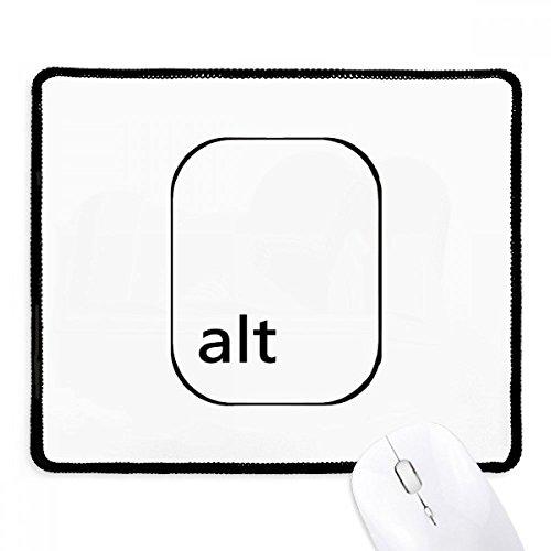 DIYthinker Teclado Símbolo Alt antideslizante Mousepad Juego de oficina Negro Titched Bordes regalo