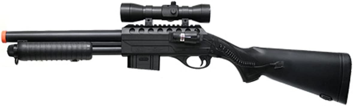 BBTac Sale item Airsoft Shotgun M47 Pump Action Spring Max 57% OFF Red with Loaded D