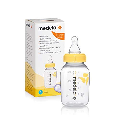 Medela Babyflasche, mit Ersatzsauger S, langsamer Fluss, 150 ml
