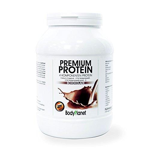 Bodyplanet Premium Protein (Vanille 750g) ->Mehrkomponenten Eiweiß aus CFM Whey, CFM Isolat, Calzium Caseinat und Ei Protein/für Muskelaufbau und Abnehmen/Low Carb Low Fat/Made in Germany
