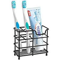 HBlife Small Stainless Steel Toothpaste Organizer (Black)