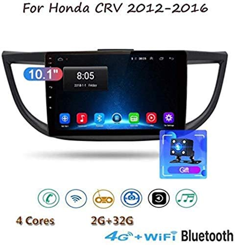 "Android 8.1 GPS-Navigation Stereo-Radio für Honda CRV 2012-2016 9 ""HD 1080P Full Touch Screen Multimedia-Player, Spiegel Link Control Lenkrad Bluetooth Hands-Free, 4G + WIFI1G + 16G,4g +"