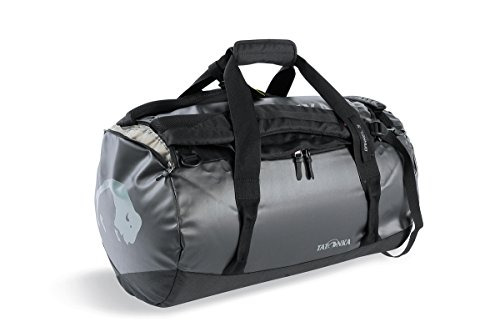 Tatonka Barrel S Reisetasche - 45 Liter - wasserfeste Tasche aus LKW-Plane mit Rucksackfunktion und großer Reißverschluss-Öffnung - Rucksacktasche - unisex - schwarz