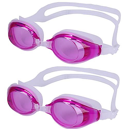 Niños nadando gafas para (3-12 años) Anti-niebla Sin fugas UV Protección Gafas de natación para niñas para jóvenes Niños Safe Soft Silicone Silicona Silicona Ajustable Correa Clara Visión inte