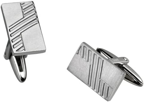 Jewel Hiphop Neo-Classic OFFicial mail High quality new order Stainless With Diagonal Steel Cufflinks