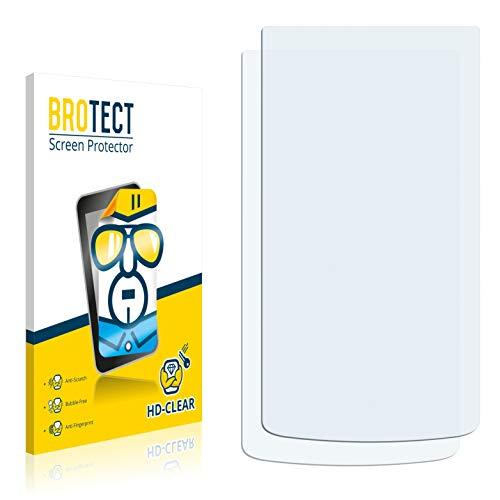 BROTECT Schutzfolie kompatibel mit Oppo N1 (2 Stück) klare Bildschirmschutz-Folie