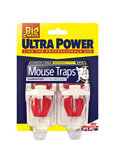 The Big Cheese Ultra Power Mouse Traps (Ready Baited, Easy to Set, Twin...