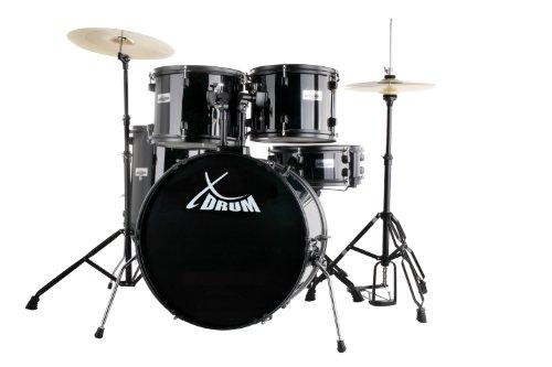 "XDrum Rookie 22"" Standard Schlagzeug Komplettset Black & inkl. Schule + DVD"