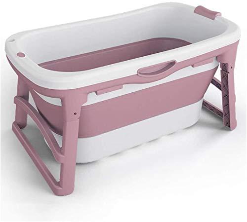Bañera plegable para adultos, bañera portátil infantil, grueso antideslizante con cubierta de...