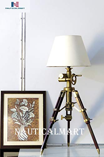 Nautical Decor Royal Marine Tripod Table Lamp Industrial Lamps