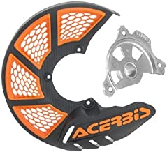 Acerbis X-Brake Vented Front Disc Cover with Mounting Kit Black/Orange for KTM 85 SX 2009-2018