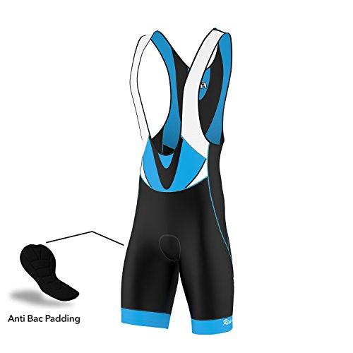 FDX – Classic, pantaloncini da ciclismo imbottiti, da uomo, Black & Blue