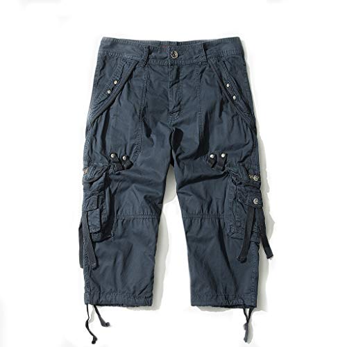 AYG Bermudas Cargo Pantalones Cortos Militares Hombre 3/4 Pantalón Cortos Verano de Ropa Deportiva
