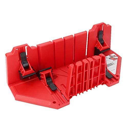 Fafeicy Caja de sierra de inglete, roja caja de gabinete de caja de sierra de inglete multifunción, herramienta de corte de yeso de madera de 22,5/45/90 grados, material plástico de ingeniería ABS
