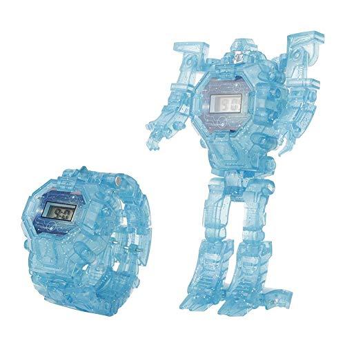 Zerodis 2 en 1 Montre Robot Jouet Montre de Transformation pour Enfants Montre Bracelet de Collection Cadeau Garçons et Filles 3 Ans et Plus(Blue)