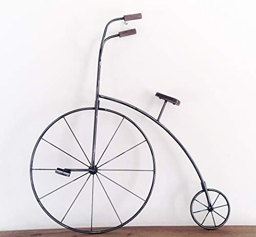 F&G Supplies Fantastic large (77cm tall) metal Penny Farthing bicycle wall or garden art ornament - great statement piece!