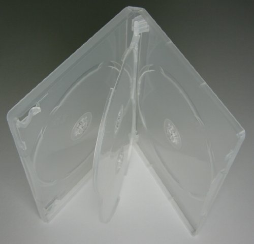 Kronenberg24 Profi DVD Hüllen 4fach 15mm transparent - 10 Stück