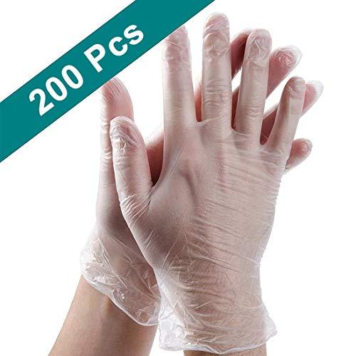 Einweghandschuhe aus PE-Kunststoff, Einweghandschuhe, Arbeitshandschuhe, zum Kochen, Reinigen und zur Vermeidung von Kontaktübertragung, Einheitsgröße, 200 Stück