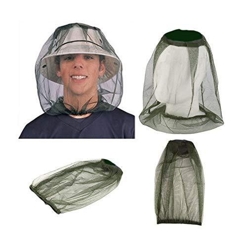 AKDSteel Muggenhoofd Netto Anti-Muggenbee Bug Vlieg insectenwerende Netting Beschermende Cover Insect Hoofd Netto Gezichtsmasker voor Outdoor Camping Wandelen Reizen Vissen voor Kerstmis Vakantie