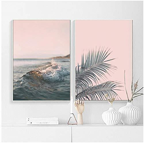 Decoratie, voor thuis, Scandinavische stijl, canvas, schilderijen, zee, afbeeldingen, wand, kunstdruk, affiche, modulair, voor woonkamer - 50 cm x 70 cm x 2 cm (zonder lijst)