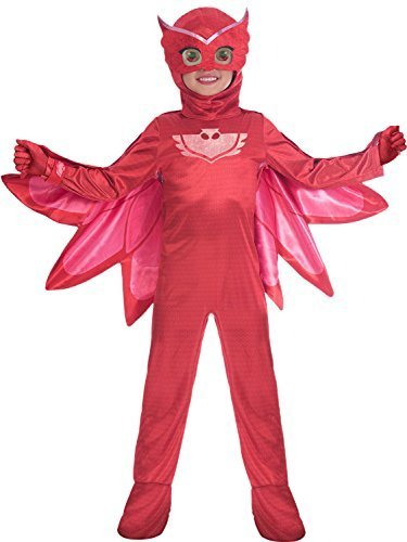 Fancy Me Jungen Mädchen Offiziell Pyjama Masken Owlette Tv-Charakter Superheld Kostüm Kleid Outfit 3-8 Jahre - 7-8 Years