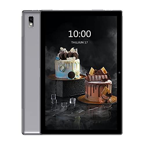 Blackview Tab9 Tablet 10.1 pollici Android 10 4G LTE WiFi, 4 GB RAM + 64 GB ROM (scalabile a 128 G), batteria 7480 mAh, tablet con fotocamera da 13 MP + 5 MP, Dual SIM Face ID GPS OTG, colore: grigio