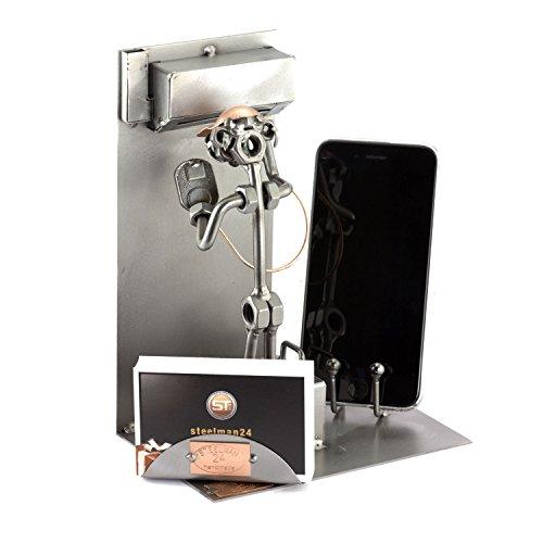 Steelman24 I Noten en bouten sculptuur Koeling Systeem Onderhoud Mechanische Met Persoonlijke Graveren Ik Handgemaakte metalen ornamenten I