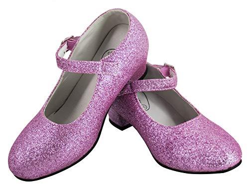 Gojoy shop- Zapato con Tacón de Danza Baile Flamenco o Sevillanas para Niña y Mujer, 5 Colores Disponibles (P- Rosa Clara, 29)