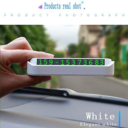 Signe D'arrêt Temporaire, Numéro De Voiture, Numéro De Création, Trois Dimensions, Lumineux, Transfert Temporaire De Véhicule,White