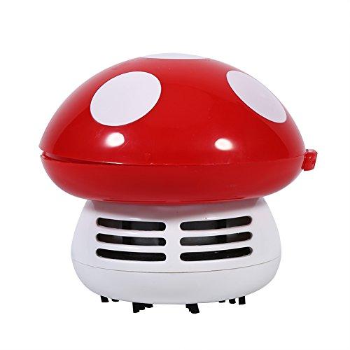 Mini-Staubsauger für Schreibtisch, Tisch, Tastatur in Pilzform, 5 Farben zur Auswahl rot