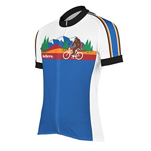 Peak 1 Sports Bigfoot Men's Cycling Jersey L - Men's Blue