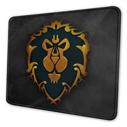 World of Warcraft Alliance Mouse Pad Non-Slip Waterproof Foldable Rubber Base Gaming Mouse Pad for Desktop Computers Laptop Office Home & More Mouse Pads 10x12 in