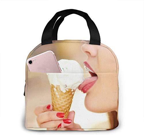 Lecken Mädchen Krawatte Clipart Smoking Mittagessen Einkaufstasche Isolierte weiche Kühler Picknicktasche für draußen, Camping oder Spi