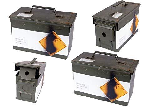 2 Stück Französische Munitionskiste dunkelgrün gebraucht 31 x 15,5 x 18,7 Metallkiste Munikiste 14,98€/Stück
