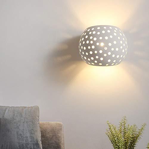 The only goede kwaliteit decoratie LED Moderne minimalistische hal slaapkamer woonkamer honingraat wandlamp gips lampenkap persoonlijkheid mode wit 110-240 V (15 * 13 * 13 cm) Villa