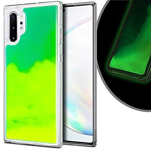 VenSen Schutzhülle für Samsung Galaxy Note 10 + Plus 5G, weiches TPU, luxuriös, leuchtet im Dunkeln, fluoreszierend, Neonsandfarben