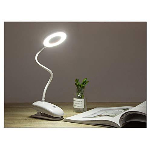 iScooter Luz LED de libro, lámpara de escritorio flexible, luz LED USB, control táctil/3 modos de luz regulables, lámpara de escritorio con abrazadera para lectura, cabecero de cama mesa
