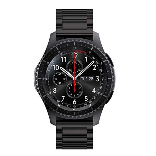 Leeye Correa de acero inoxidable para Samsung Gear S3 Classic Frontier Watch Band Pulsera de reloj mejor regalo para hombres y mujeres