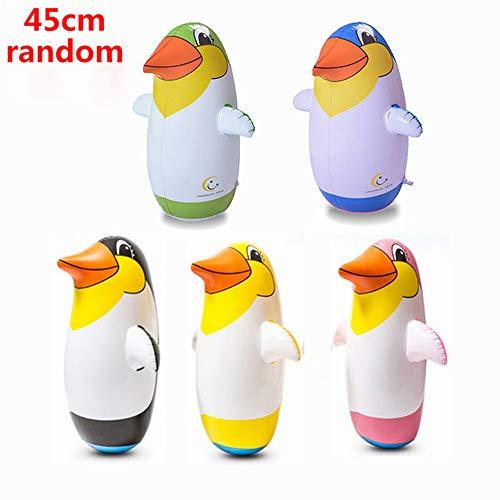 zhuangyulin6 1PC Aufblasbarer Pinguin, Outdoor Fun Sports Zufällige Farbe Aufblasbarer Pinguin Spielzeug Weicher Plastikbecher Aufblasbarer Pinguin für Kinder, 45CM