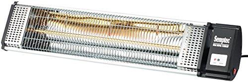 Semptec Urban Survival Technology Semptec Heizstrahler Infrarot: IR-Heizstrahler mit Goldröhre RA-20.gl, Fernbedienung, 2.000 W, IP24 (Terrassen-Heizstrahler)