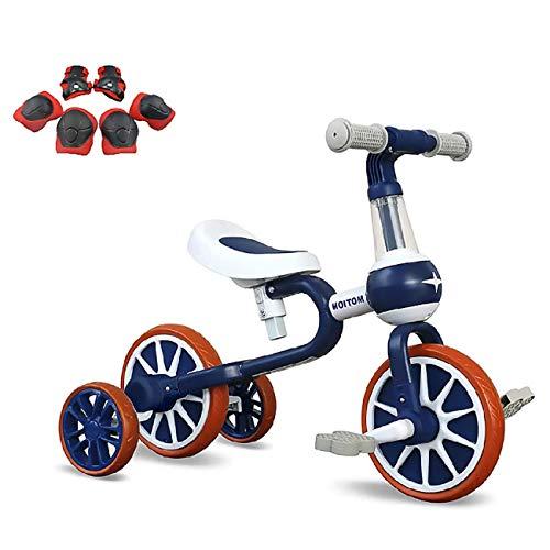 YWJPJ. Scooter de Equilibrio para niños, Bicicleta de Balance Infantil con Asiento Ajustable, para niños y niñas Edad 10-36 Meses, Bicicleta de Balance Infantil Tiene 4 (2) Ruedas,Azul