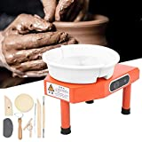 wjsw ruota per ceramica, macchina per formatura di ceramica ruota per ceramica in ceramica con pedale per argilla ceramica artigianato argilla fai-da-te (spina britannica 250w)