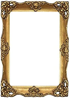 Wood Art Interior Antique Royal Wooden rectangule livingroom Bedroom Bathroom Mirror Frame |36X24 Inch |Polish Color Antique