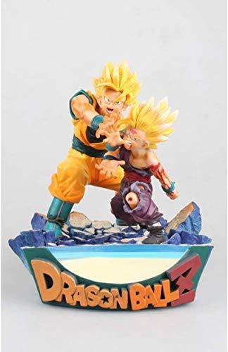 XXSDDM-WJ Regalo 17CM Dragon Ball Son Goku Sangohan Figurilla Estatua D animación Decoraciones Modelo Shockwave Padre e Hijo Goku Gohan Escultura Recuerdo Goku-Gohan-Goku-Gohan RD7