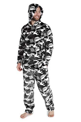CityComfort Pijamas Hombre, Pijamas Hombre Invierno Suaves, Pijamas Hombre Forro Polar Sudadera con...