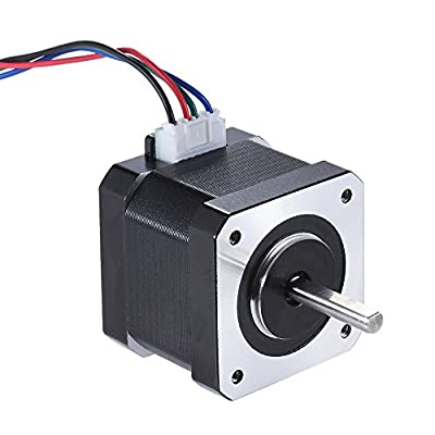 KKmoon 1pcs Nema 17 Stepper Stepping Motor Drive Control 2 Phase 1.8 Degree 0.9A 0.4N.M 42mm with 90cm Lead Cable 3D Printer/CNC Accessory Replacement