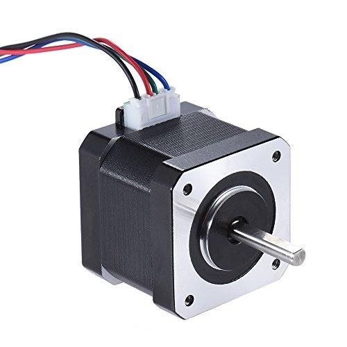 Aibecy 1pcs Nema 17 paso a paso Stepping unidad de control de motor Fase 2 1.8 Grado 0.9A 0.4 Nm 42 mm con 90 cm Cable de plomo 3D Impresora / reemplazo CNC accesorios