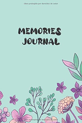 Memories Journal: Cuaderno mixto de cuadros y dibujo, con hermosos diseños de flores, ideal para toda clase de memorias, notas, dibujo, creaciones, estudio, / 120 páginas/6x9/ diseño de naturaleza